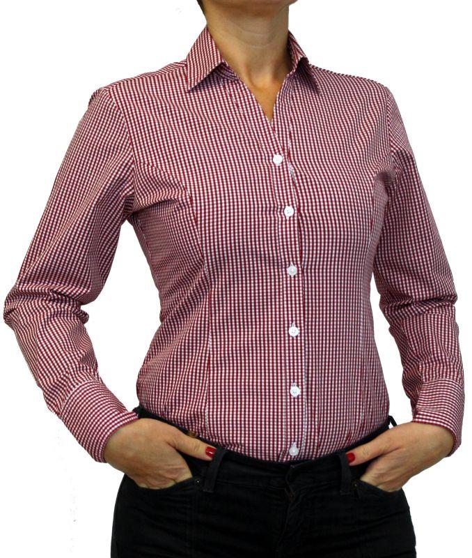 60% Freigabe kosten charm kommt an Damen Bluse, Bodybluse, Blusenbody, Baumwolle, langarm, kariert, schwarz,  blau, orange, rot, S, M, L, XL, XXL. kirschrot 44/XXL