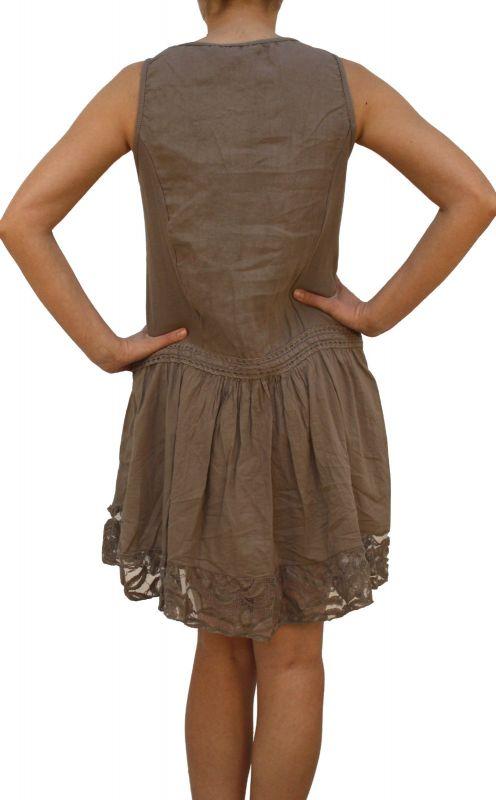 a4c35fbbb74 ... M Damen Frauen Leinen Kleid