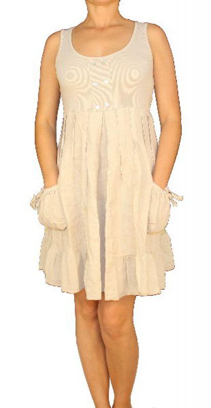 7cd2544b71e Damen Frauen Leinen Kleid