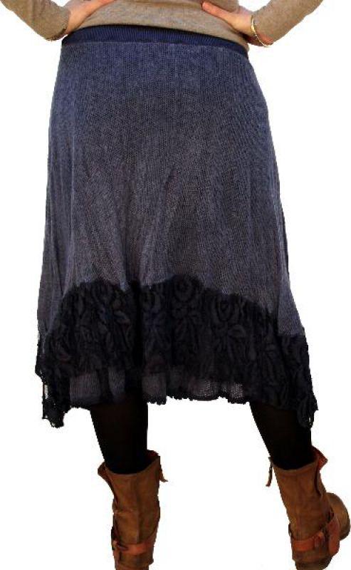 big sale 73dd2 c6124 Damen Strickrock mit Gürtel, blau, beige, braun, grün, grau, bordo,  Unigröße, neu.