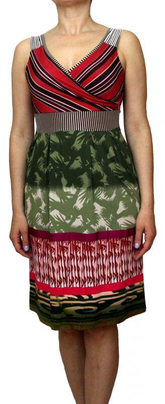 ad5790cf7bd714 SAVE THE QUEEN Damen Kleid, Sommer Trägerkleid, Viskose, mehrfarbig, M, L