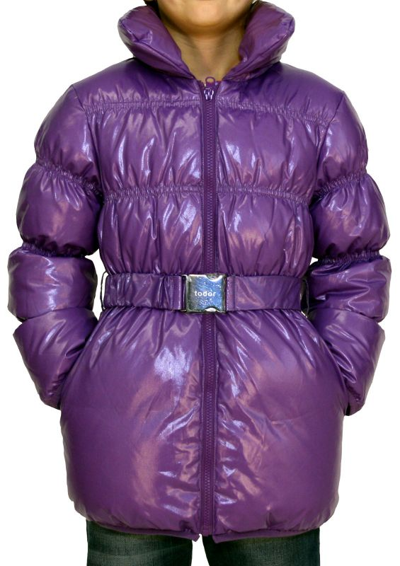 huge selection of 20590 e6e6e TODOR Kinder Daunenjacke, Winterjacke, Mädchen, lila!