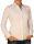 Damen Bluse, Langarm, Baumwolle, Elasthan, blau, weiß, tailliert, S, M, L, XL. weiss L