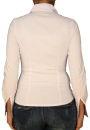 Damen Bluse, Langarm, Baumwolle, Elasthan, blau, weiß, tailliert, S, M, L, XL. weiss XL