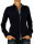 Damen Bluse, Langarm, Baumwolle, Elasthan, blau, weiß, tailliert, S, M, L, XL. dunkel blau M