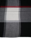 PERANO Damen Schal, Tuch, Stola, Baumwolle, 88 X 212, Tartan Muster. schwarz