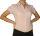 Damen Bluse, Bodybluse, Blusenbody, Kurzarm, einfarbig, pink, hellblau, weiß, schwarz. pink L