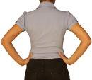 Damen Bluse, Bodybluse, Blusenbody, Kurzarm, einfarbig, pink, hellblau, weiß, schwarz. hell blau L