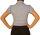 Damen Bluse, Bodybluse, Blusenbody, Kurzarm, einfarbig, pink, hellblau, weiß, schwarz. hell blau XL