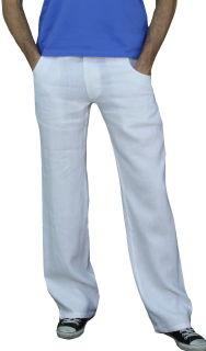 PERANO Herren, Jungen Hose, 100% Leinen, beige, blau, braun, grün, weiß, Gr. M, L, XL, XXL, neu! weiss S