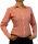 Damen Bluse, Bodybluse, Blusenbody, Baumwolle, langarm, kariert, schwarz, blau, orange, rot, S, M, L, XL, XXL.