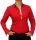 Damen Bluse, Bodybluse, Blusenbody, Baumwolle, langarm, einfarbig, schwarz, blau, weiß, rot, S, M, L, XL, XXL. rot 44/XXL