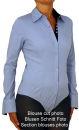 Damen Bluse, Bodybluse, Blusenbody, Baumwolle, langarm, einfarbig, schwarz, blau, weiß, rot, S, M, L, XL, XXL. weiss 38/M