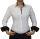Damen Bluse, Bodybluse, Blusenbody, Baumwolle, langarm, einfarbig, schwarz, blau, weiß, rot, S, M, L, XL, XXL. weiss 42/XL