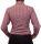 Damen Bluse, Bodybluse, Blusenbody, Baumwolle, langarm, kariert, schwarz, blau, orange, rot, S, M, L, XL, XXL. kirschrot 44/XXL