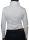 Damen Body Bluse, Blusenbody, Rüschen, langarm. weiß XL