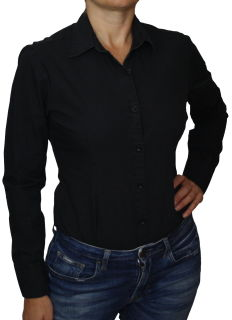 C&H Bodybluse,Blusenbody,langarm,weiß,schwarz,pink,rot,neu! schwarz XL
