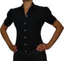 Damen Body Bluse, Blusenbody, kurzarm, weiß,...