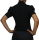 Damen Bodys Bodybluse, Blusenbody, kurzarm, weiß, schwarz, pink, rot, neu! schwarz XL