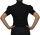 Damen Bodys Bodybluse, Blusenbody, kurzarm, weiß, schwarz, pink, rot, neu! schwarz XXL