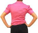 Damen Bodys Bodybluse, Blusenbody, kurzarm, weiß, schwarz, pink, rot, neu! hellblau M
