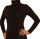 Damen Body Bluse, Bodyshirt, langarm, Rollkragen, grün, weiß, dunkelbraun, grau, rot, neu. dunkelbraun M