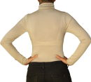 Damen Body Bluse, Bodyshirt, langarm, Rollkragen, grün, weiß, dunkelbraun, grau, rot, neu. rot S