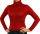 Damen Body Bluse, Bodyshirt, langarm, Rollkragen, grün, weiß, dunkelbraun, grau, rot, neu. rot XL
