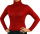 Damen Body Bluse, Bodyshirt, langarm, Rollkragen, grün, weiß, dunkelbraun, grau, rot, neu. rot XXL
