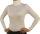 Damen Body Bluse, Bodyshirt, langarm, Rollkragen, grün, weiß, dunkelbraun, grau, rot, neu. weiß S