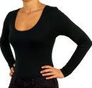 PERANO Bodybluse, Bodyshirt, langarm, Rundhalskragen, grün, beige, braun, grau, blau, neu. grün L