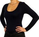 PERANO Bodybluse, Bodyshirt, langarm, Rundhalskragen, grün, beige, braun, grau, blau, neu. dunkelblau XL