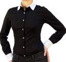 9222 PERANO Damen Body Bluse Blusenbody Baumwolle Langarm...