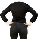 C&H Bodybluse, Blusenbody, langarm, schwarz/ weiß, weiß/schwarz, beige, S, M, L, XL, XXL, neu! schwarz/weiß M