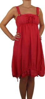 SAXX Damenkleid, 100% Leinen, beige, hellrosa, braun, weiß, schwarz, blau, grün, rot, Gr. M, L, XL, XXL, 3XL, neu! Dunkelrosa L