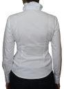 PERANO Damen Rüschen Bluse, Hemd, Baumwolle,...
