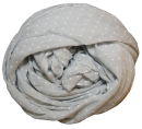PERANO Damen Schal, Tuch, Stola, gepunktet, Baumwolle & Seide, 70X200, made in Italy, neu!