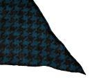 PERANO Damen Schal, Tuch, Stola, kariert, 70% Baumwolle, 30% Seide, 70X200, made in Italy, beige, blau, neu!
