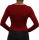 PERANO Bodybluse, Bodyshirt, langarm, U-Ausschnitt, rot, schwarz, weiss, neu. rot XL