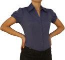 Damen Bluse, Bodybluse, Blusenbody, Kurzarm, einfarbig,...