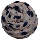 PERANO Damen Schal, Tuch, Stola, groß gepunktet, Baumwolle & Seide, 70X200, made in Italy, neu!