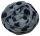 PERANO Damen Schal, Tuch, Stola, groß gepunktet, Baumwolle & Seide, 70X200, made in Italy, neu! hell-blau