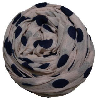 PERANO Damen Schal, Tuch, Stola, groß gepunktet, Baumwolle & Seide, 70X200, made in Italy, neu! rosa