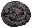PERANO Damen Schal, Tuch, Stola, Schriftmuster, Baumwolle & Seide, 70X200, made in Italy, neu!