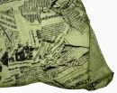 PERANO Damen Schal, Tuch, Stola, Schriftmuster, Baumwolle & Seide, 70X200, made in Italy, neu! gelb-blau
