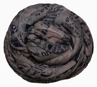 PERANO Damen Schal, Tuch, Stola, Schriftmuster, Baumwolle & Seide, 70X200, made in Italy, neu! hellrosa-blau