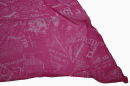 PERANO Damen Schal, Tuch, Stola, Schriftmuster, Baumwolle & Seide, 70X200, made in Italy, neu! pink-weiß