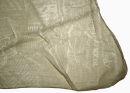 PERANO Damen Schal, Tuch, Stola, Schriftmuster, Baumwolle & Seide, 70X200, made in Italy, neu! beige-weiß